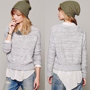 Free People | In My Pocket Gray Knit Sweater